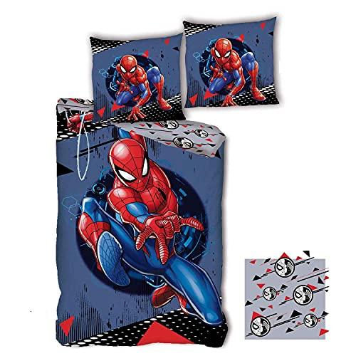 SPDM Spiderman Marvel Classic - Funda de edredón infantil
