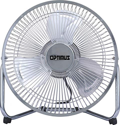 Optimus F-4092 9-Inch Industrial-Grade High-Velocity 2-Speed Fan, 1-Pack, Silver Coated