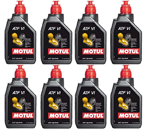 Motul 105774 Set of 8 ATF VI Automatic Transmission Fluid 1-Liter Bottles