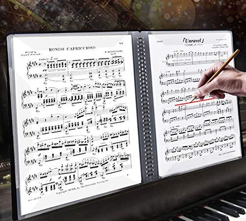 【陌の街角】60ページ楽譜ファイルA4サイズ楽譜入れ直接書き込めるデザイン楽譜ホルダー