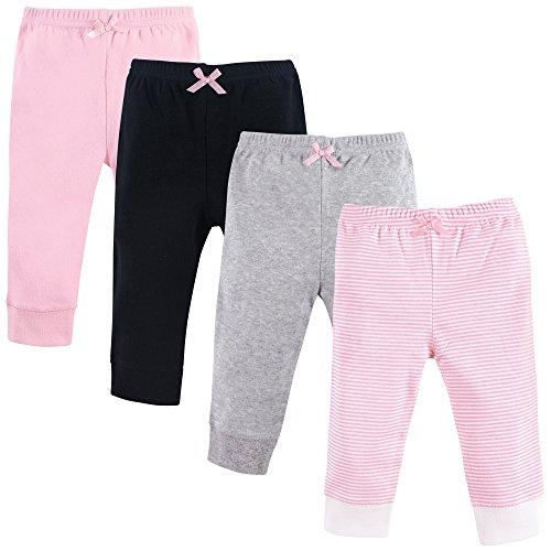 Luvable Friends Baby Cotton Pants, Light Pink Stripe, 9-12 Months