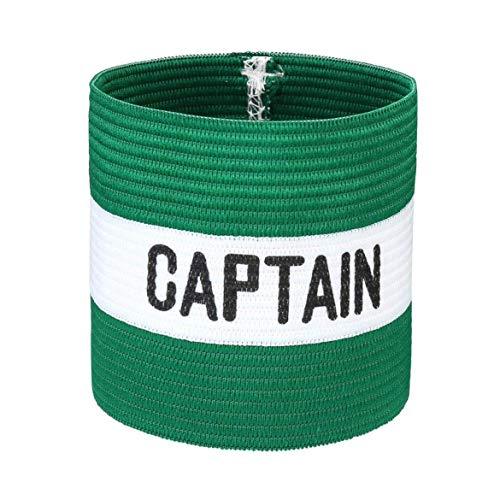 VerteLife Kapitänsband Spielführerbinde für Fußball und Rugby, Gummielastische Armbinde Kapitän Armbinde, Captains Armband für Erwachsene und Kinder - Grün, Einheitsgröße