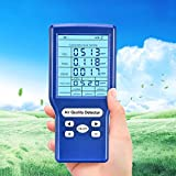 Vogvigo Monitor de calidad del aire Probador preciso para formaldehído de CO2 (HCHO) Medidores TVOC ppm Mini detector de dióxido de carbono Analizador de gas Probador de calidad del aire portátil