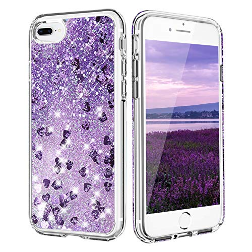 Funda para iPhone 6 Plus, iPhone 8 Plus con Purpurina y líquido Arenas movedizas para niñas y Mujeres, anticaídas, Silicona TPU Suave, para iPhone 6 Plus/6S Plus/7Plus/8Plus