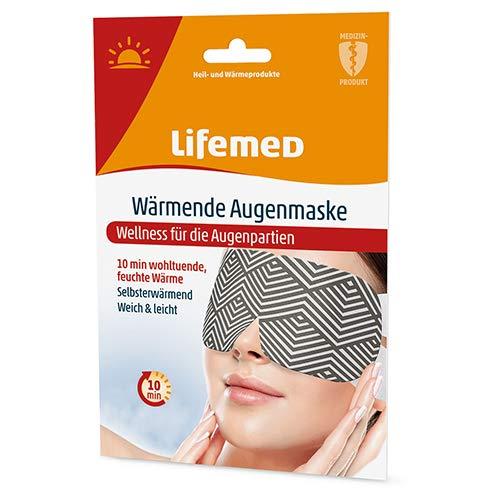 Lifemed - Wärmende Augenmaske, für eine wohltuende Wärme zur Entspannung - im preisgünstigen und praktischen 2er Pack