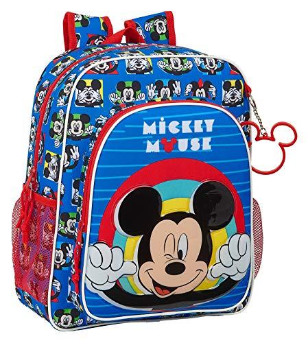 Safta Mochila Escolar Junior de Mickey Mouse Me Time  320x120x380mm
