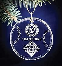 2019 Washington Nationals World Series Champions Baseball Themed Keepsake Christmas Circle Ornament