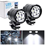 Motorcycle Spotlight, Universal 60W Bicycle Driving Lamp 12V 24V Fog Light For Motorbike Truck Car Boat Auxiliary Lights