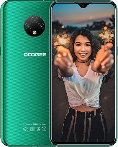 Teléfono Móvil Libres, DOOGEE X95 Android 10 Smartphone Libre, Moviles Libres 4G Dual SIM, Pantalla 6,52 Pulgadas, 4350mAh Batería, 13MP+2MP+2MP+5MP, 16GB ROM, 128GB SD, Face ID - Verde