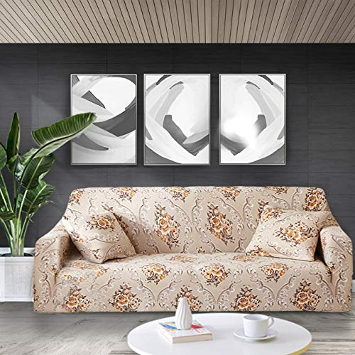Elastic Sofa Cover Floral Printing Sofa Slipcovers Sofa Covers for Living Room Corner Sofa Towel Couch Cover A17 4 seater