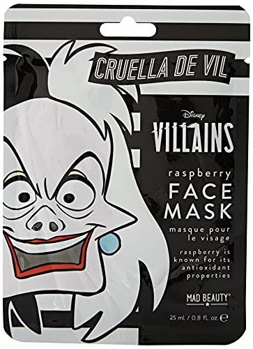 MAD Beauty Mascarilla Facial Hidratante Cruella de Vil, Disney Cruella Sheet Face Mask, Translúcido, Vainilla