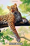 Notebook: Leopard Art , Journal for Writing, College Ruled Size 6' x 9', 110 Pages