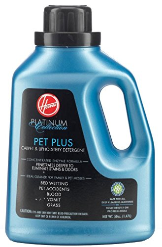Hoover AH30035 Carpet Cleaner and Upholstery Detergent Solution, Platinum Collection Pet Plus Formula, 50 oz