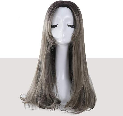 JF Perruque Femme Longue et bouclée Invisible sans Couture en Forme de U avec Demi-tête Pleine tête Perruque Longue Perruque Longue Vague avec Cheveux bouclés