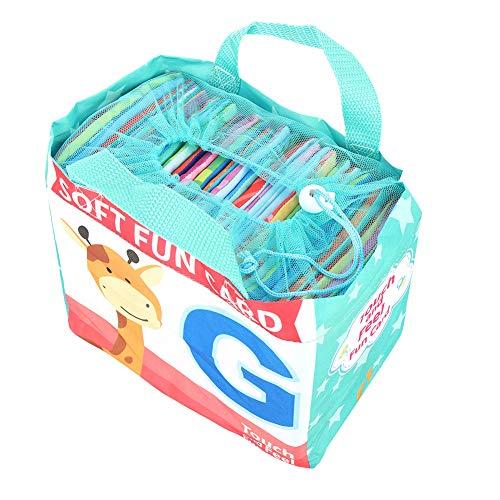 Yencoly Libro de Tela para niños, Libro de Tela Suave Lavable y Transpirable, Suave Colorido Duradero ecológico para niños en casa niños al Aire Libre