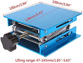 AKDSteel Aluminum Router Lift Table Woodworking Engraving Lab Lifting Stand Rack 4inx4in Practical Tool Accessories