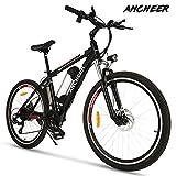 """ANCHEER Elektrofahrrad Ebike Mountainbike, 26""""/27.5"""" Elektrisches Fahrrad mit 36V 8Ah/10Ah/12Ah Lithium-Batterie und Shimano 21-Gang (26"""" klassischer Ritter Schwarz rot 8Ah)"""