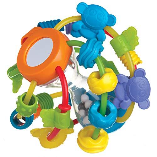 Playgro Palla Multiattività, A Partire da 6 Mesi, Giocattolo da Apprendimento, Blu/Verde/Giallo, 40137