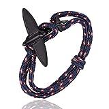 Bracelet Nautique pour Homme Et Femme,Avions La Chance Fashion Mens Bracelet Personnalisé Bracelet Tressé Classique Cadeau Parfait,Scm913