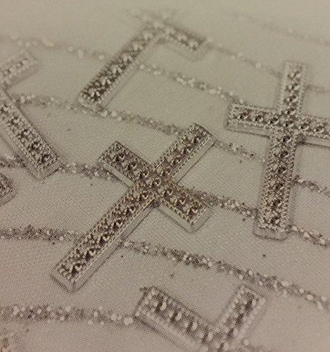 10 motifs à coller croix argenté, 2 cm. Hobi. Décoration de mariage