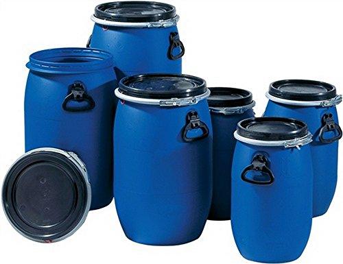 Kunststoff-Weithalsfass PE 60 L blau m. UN-Kennzeichnung