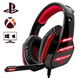 Cuffie Gaming per PS4 PC, Beexcellent Super Confortevole Stereo Bass 3.5mm Headset Gaming con Microfono per Xbox One, Portatili, Mac, Tablet …