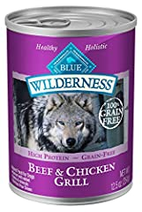 PACKED WITH REAL BEEF AND CHICKEN: This grain free dog food contains more of the meat dogs love including real beef and chicken. FEED THREE WAYS: High protein BLUE Wilderness adult dog food makes a delicious treat, adds interest mixed into their favo...