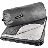 Leisure Co Large Outdoor Blanket Waterproof Camping Blanket with Plush Fleece Inner Lining - Waterproof Picnic Blanket for Parks - Stadium Blanket for Games - Foldable, Portable and Lightweight