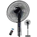 CHEN Desktop-Ventilator, Zu Hause Boden Intelligente Fernbedienung Ventilator Mute Timing Elektrischer Ventilator Mini-Ventilator