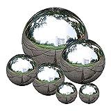 Durable Edelstahl Ball Anstarrt Nahtlose Anstarren Kugel Spiegel Poliert Hohle Kugel-Reflective Garten Kugel Für Hausgarten 6 Stück