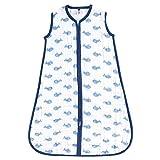 Hudson baby Unisex Baby Safe Sleep Tragbarer Musselin-Schlafsack – Blau – 0-6 Monate