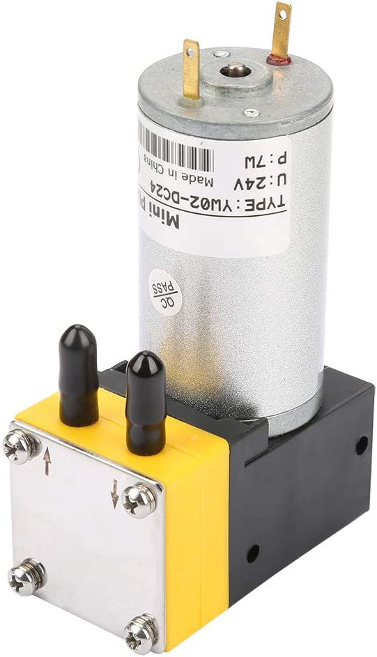 Wacent Bomba de vacío, útil y Duradera, 24 V, 0,4-1 L/min, Bomba de diafragma en Miniatura, Bomba de vacío para Aire/líquido