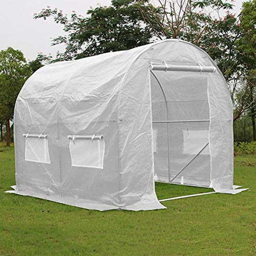 Invernadero de Jardín Al Aire Libre Invernadero Grande Walk-In Túnel, Portátil s Prueba de Lluvia Calientes de La Casa - con Protección UV, for La Protección fe Vegetales de Frutas - 3x2x2 m