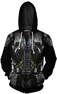 The Predator Hoodie Full-Zip 3D Printed Cosplay Costume Sweater Pullover Halloween, S-3XL
