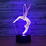 3D Gymnastique LED Lampe Art Déco Lampe la Couleur Changeant Lumières LED Décoration Maison Enfants Meilleur Cadeau Lumière Touch Control 7 Couleurs Change USB Lampes Bureau Powered