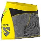 SMMASH Go Candy Yellow Leggins Cortos Deportivos para Mujer Pantalones Cortos Mujer, Yoga, Fitness, Crossfit, Correr, Material Transpirable y Antibacteriano, (M)
