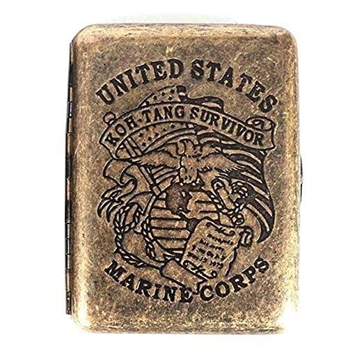 AoFeiKeDM Caja de cigarrillo mini caja de tabaco metal retro a prueba de aplastamiento de cigarrillos de la era victoriana