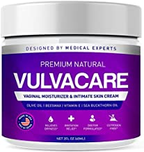 Organic Vaginal Moisturizer, Vulva Balm Cream, Intimate Skin Care, Menopause Support - Relieves Dryness, Itching, Burning, Redness, Chafing, Odor, Irritation - Estrogen Free (2 Ounces)