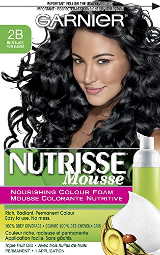 Garnier Nutrisse Nourishing Color Foam, Blue Black