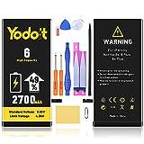 Yodoit Batería para iPhone 6 2700mAh bateria Recambio, Aumento del 49% de la Capacidad de la batería Reemplazo de Alta Capacidad Batería con Kits de Herramientas de reparación