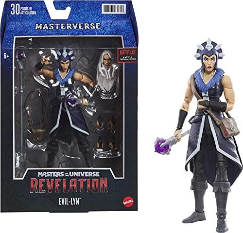 Masters of the Universe GYV12 Masterverse Collection Evil-Lyn Actionfigur, ca. 18cm große MOTU Actionfiguren zum Spielen und Sammeln, Geschenk für Kinder ab 6Jahren und Sammler jeden Alters Bunt