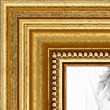 ArtToFrames 16x24 inch Gold Foil on Pine Wood Picture Frame, WOM0066-81375-YGLD-16x24