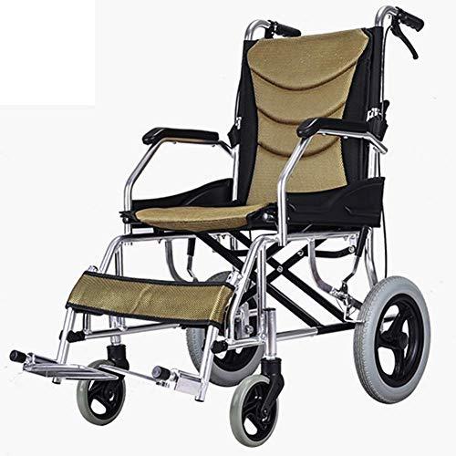 Busirsiz Medizin und Rehabilitation Stuhl, Rollstuhl, Leichtklapp Adjustable Rollstuhles Medical, Aluminiumreise Rollstuhl Tragbare Leichtbau ältere Multifunktions-Wagen Rollstuhl