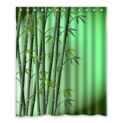 Coutume dalliy Art en bambou imperméable Polyester Rideau de douche Shower Curtain 152 cm x 183 cm, Polyester, A, 60\