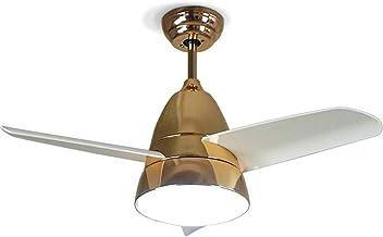QUKAU Ceiling Fan lamp Diameter 75CM 20W White Light LED Children's Room LED Fan lamp Creative Bedroom Restaurant Fan lamp (Green)