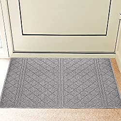 "Indoor Doormat 24""x 36"" Absorbent Front Door Mat"