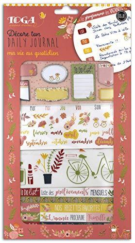 Toga Kit de décoration Bullet Journal - Fleuri, Orange et Vert, taille unique