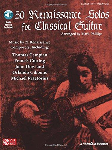 50 Renaissance Solos For Classical Guitar: Noten, Sammelband für Gitarre (Book & CD)