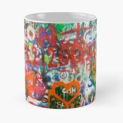 Lennon Relevant Wall Lo más vendido Tendencia Elfer checo más nuevo más reciente República Elferspitze mejor taza de café de cerámica de 11 oz Eat Food Bite John Best 11 oz taza de café de cerámica