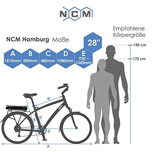 NCM Hamburg E-Bike City Rad 28 Zoll Bild 6*